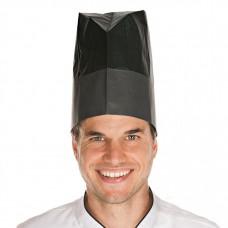 Kuharska kapa EXCELLENT STANDARD iz papirja črna