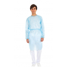 Zaščitna halja nepremočljiva PP+PE, 100 kosov