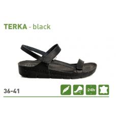 BATZ TERKA lahki in fleksibilni sandali - črni